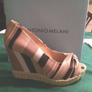 eef10b442c778 ANTONIO MELANI Shoes - Antonio Melani Kaylee Black Multi Wedges Size 7.5